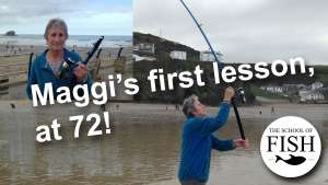 Maggi the 72 years young natural and her first casting lesson