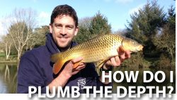 How do I plumb the depth when I'm fishing?