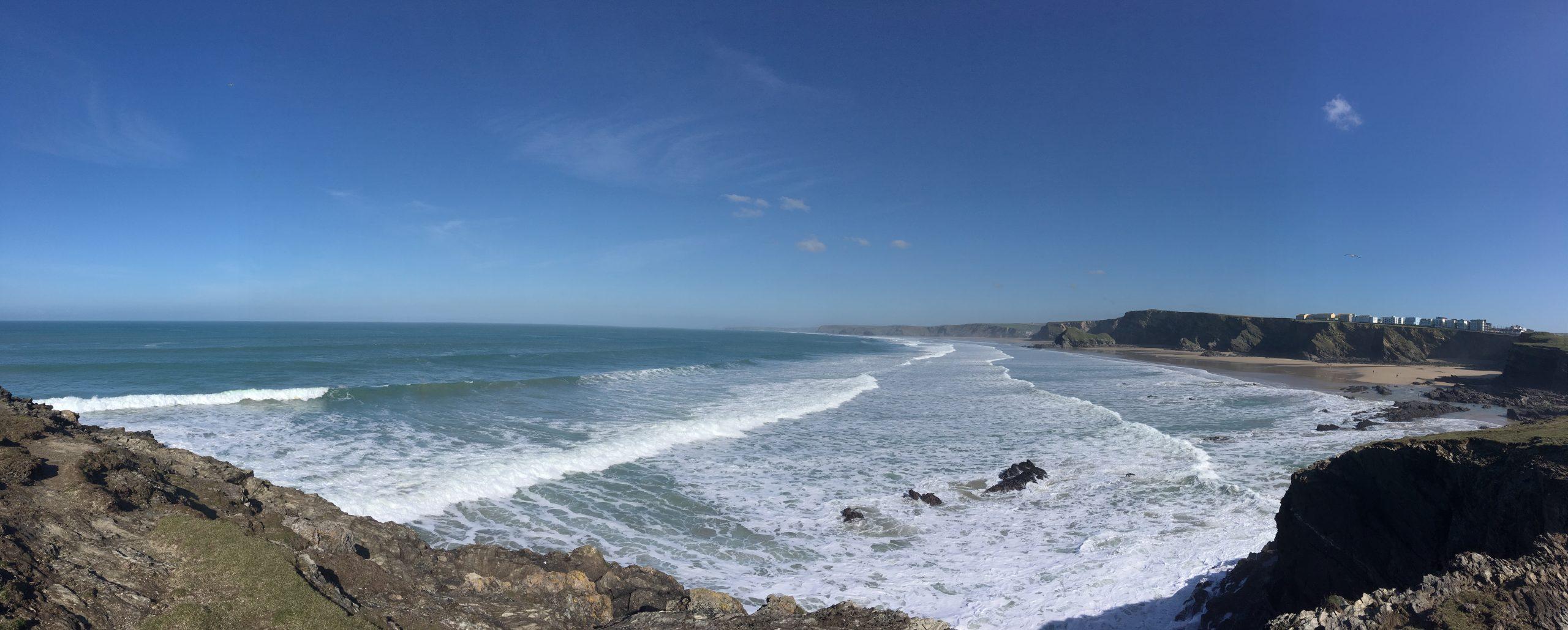 February sunshine on the Cornish coast